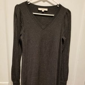 LOFT Incredibly Soft Gray Sweater Dress Size XS